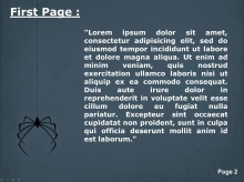 Spider descending from its web Second PPT Background