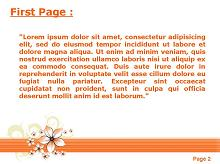 Orange Floral Background Second PPT Background