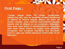 Flowers Over Orange Background Second PPT Background