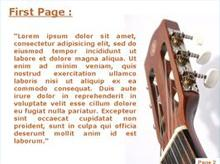 Acoustic guitar Second PPT Background