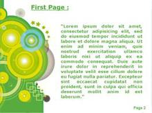 Green Circles Second PPT Background