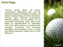Golf ball on the grass Second PPT Background