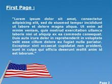 The American Flag Second PPT Background