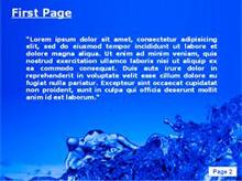Splash Water Second PPT Background