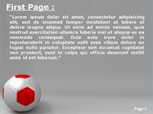 Soccer Ball Second PPT Background