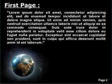 Glowing Earth in Space Second PPT Background