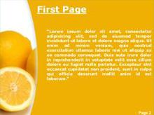 Yellow lemon Second PPT Background