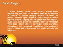 sunset in africa powerpoint template, Modern powerpoint
