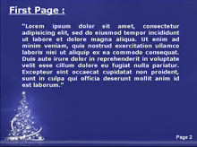 Light Christmas Tree Second PPT Background