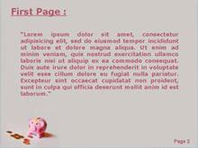 Pink Piggy Bank with Money Coins Second PPT Background
