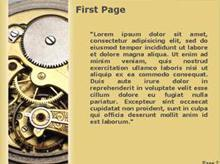 Clock Mechanism Second PPT Background