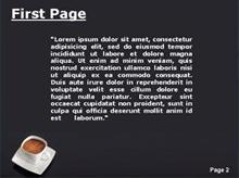 Cup of coffee Second PPT Background