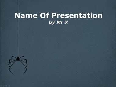 Spider descending from its web Powerpoint Template image