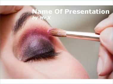 Make up powerpoint template eye make up powerpoint template toneelgroepblik Images