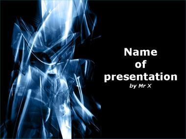Ray of Ice Powerpoint Template image