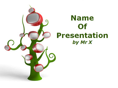 A Tree of TV sets Powerpoint Template image