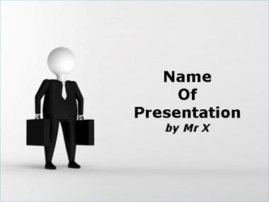 Business Man in Black Suit Powerpoint Template image