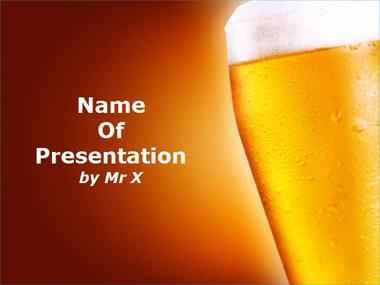 Golden Beer Powerpoint Template image