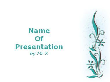 White Floral Background Powerpoint Template image