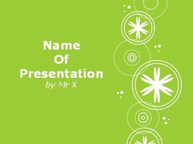 White Snowflakes over Green Background Powerpoint Template image