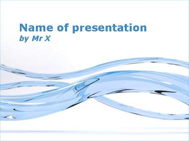 Blue Glass Curves Powerpoint Template image