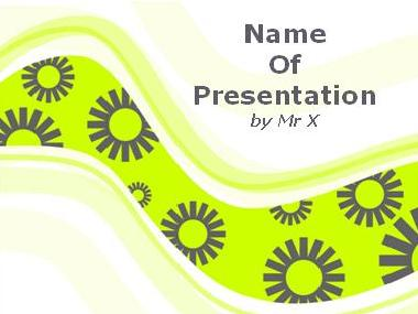 Green Serpentine Background Powerpoint Template image