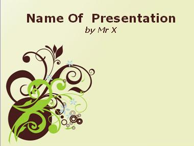 Brown Blooming Pattern Powerpoint Template image