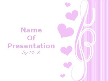 Pink love hearts powerpoint template toneelgroepblik Gallery
