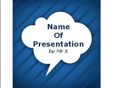 Blue Cartoon Bubble Powerpoint Template image