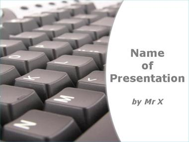 Computer Keyboard on White Background Powerpoint Template image