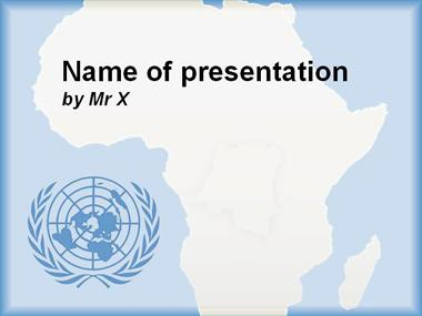 Africa and UN Blue Version Powerpoint Template