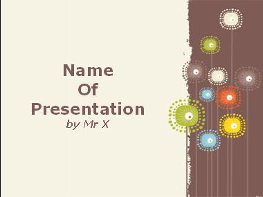 Colorful Sunflowers Powerpoint Template