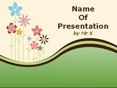 Colorful Floral Landcape Powerpoint Template image