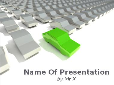 Ecological Green Car Powerpoint Template image