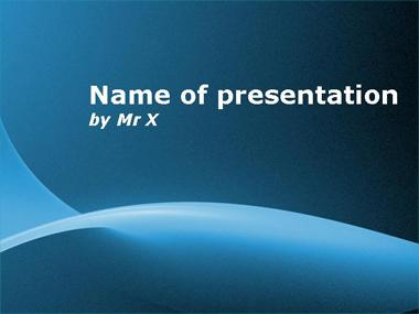 Blue Sunshine Powerpoint Template image