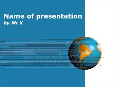 Numeric Earth Blue Version Powerpoint Template image