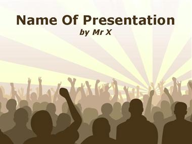 Crowded Concert Powerpoint Template
