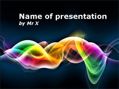 Rainbow multiple curves Powerpoint Template image