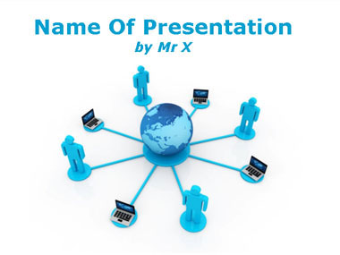 Telecommunication powerpoint templates human computers network powerpoint template toneelgroepblik Images