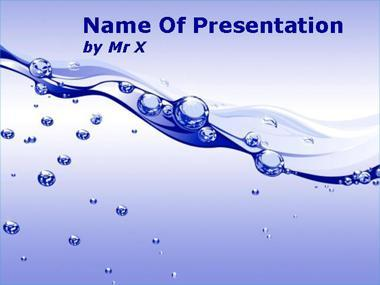 Bubble Water Flow Powerpoint Template image
