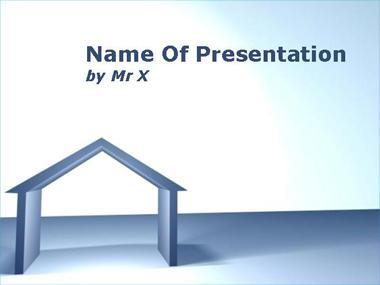 Perspective House Powerpoint Template image