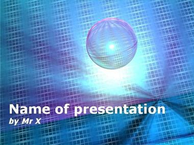 Sphere of light Powerpoint Template