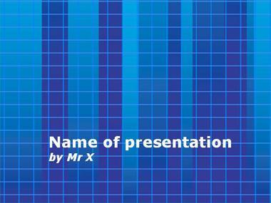 Blue Grid Powerpoint Template image