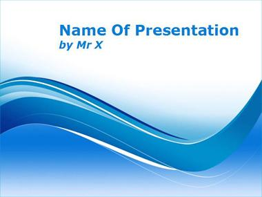Blue Curvy Lines Powerpoint Template image