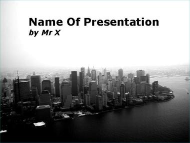 Skyscrapers City Powerpoint Template image