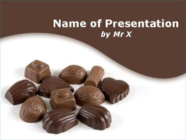 Chocolate Sweets Powerpoint Template image