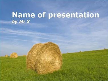 Bundle of Hay Powerpoint Template image