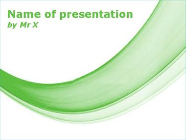 Nature Curve Powerpoint Template image
