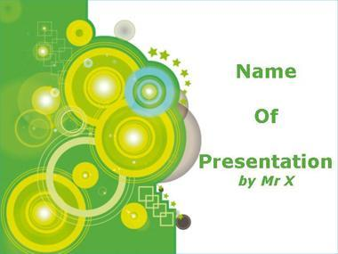Green Circles Powerpoint Template