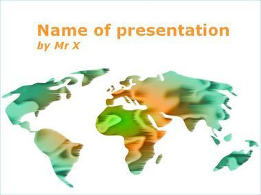 Glowing Earth Powerpoint Template image